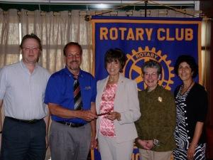 (L-R) Frank Krempasky, Doug Maurer, Linda Rakvic, Mary Crehore and Jinnyn Tata (Photo courtesy of R. Benoit)