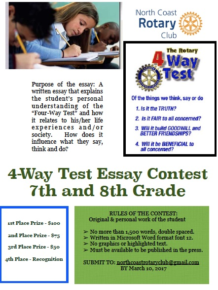 Rotary 4-Way Test Speech Contest Information Packet