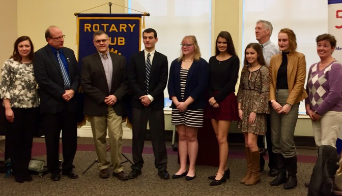 School Officials, Contestants and North Coast Rotarians